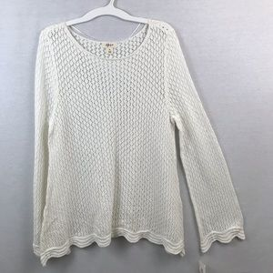 Style & Co Crocheted Sweater